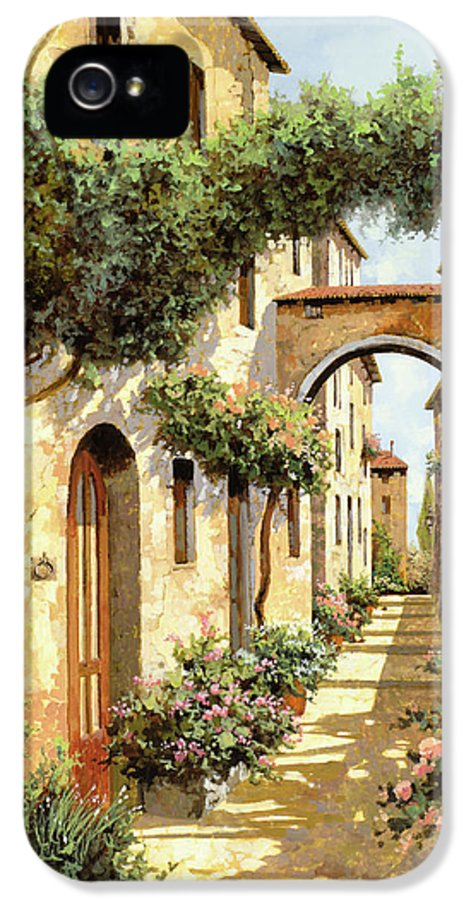 Landscape IPhone 5 Case featuring the painting Passando Sotto L'arco by Guido Borelli