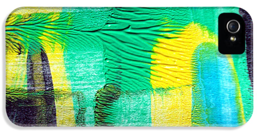 Abstract IPhone 5 Case featuring the painting Passing Time Acrylic Mind Image by Sir Josef - Social Critic - ART