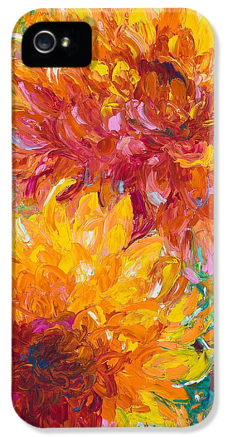 Oil IPhone 5 Case featuring the painting Passion by Talya Johnson