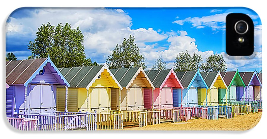 Beach Huts Canvas IPhone 5 Case featuring the photograph Pastel Beach Huts by Chris Thaxter