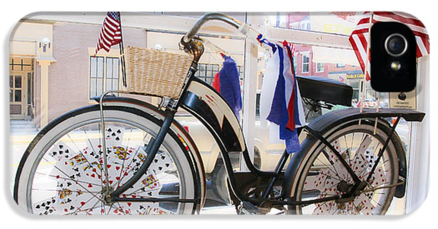 Patriotic IPhone 5 Case featuring the photograph Patriotic Bicycle by Cindy Archbell
