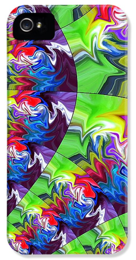 Abstract IPhone 5 / 5s Case featuring the digital art Peacock by Chris Butler