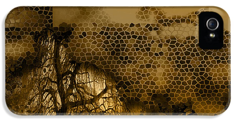 IPhone 5 Case featuring the mixed media Peer by Yanni Theodorou