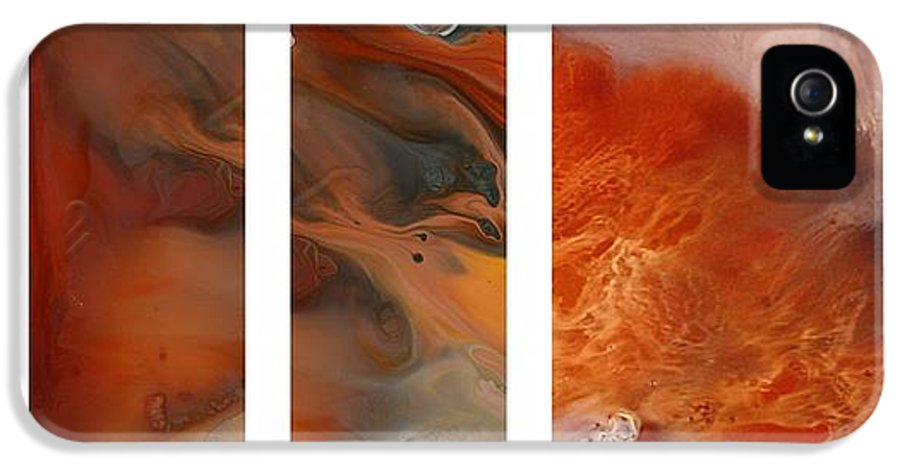 Now Accepting Commissions From Designers IPhone 5 Case featuring the painting Pele's Fire by Sheila Elsea
