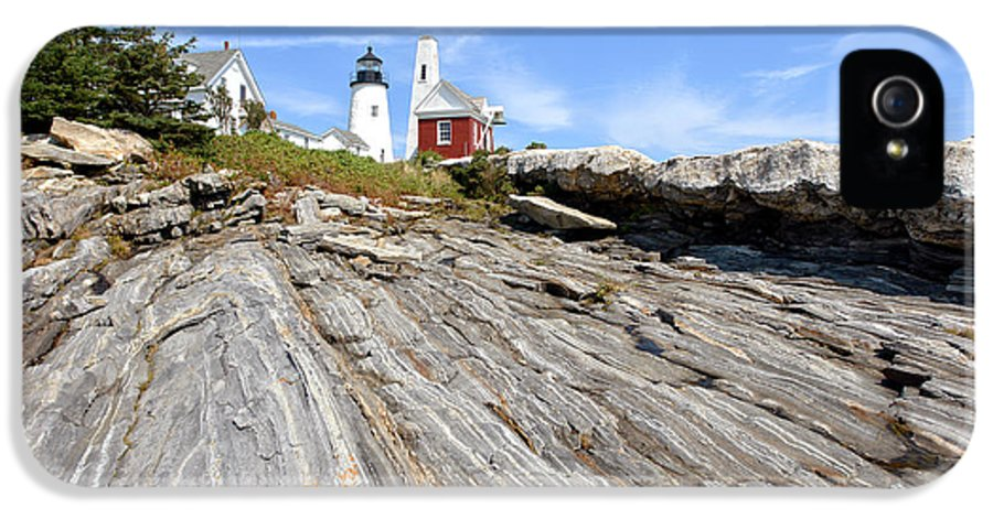 Maine IPhone 5 Case featuring the photograph Pemaquid Point Lighthouse In Maine by Olivier Le Queinec