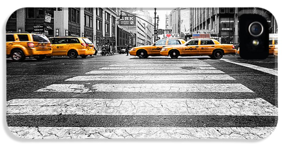 Penn Station IPhone 5 Case featuring the photograph Penn Station Yellow Taxi by John Farnan