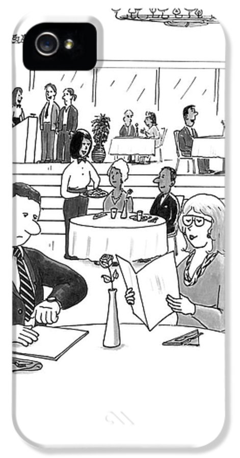 Restaurant IPhone 5 Case featuring the drawing People In A Busy Restaurant by Lee Serenethos