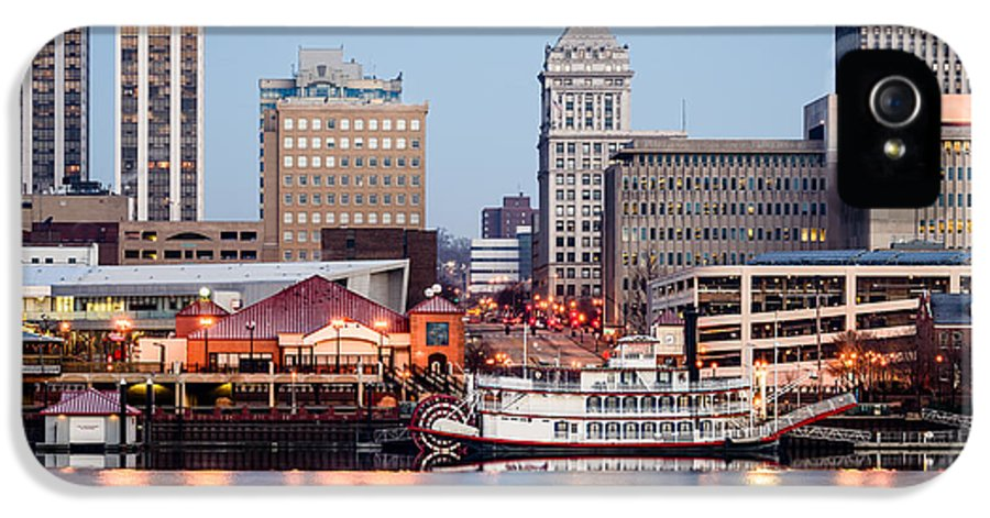 America IPhone 5 Case featuring the photograph Peoria Illinois Skyline by Paul Velgos