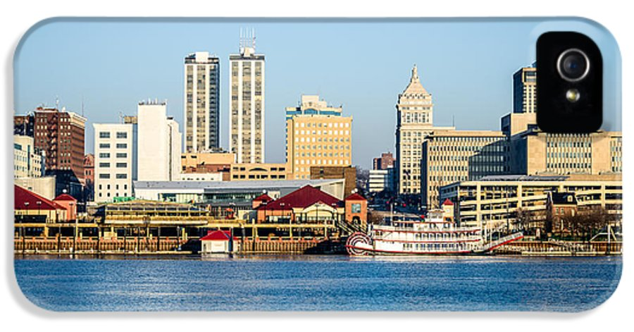 America IPhone 5 Case featuring the photograph Peoria Skyline And Downtown City Buildings by Paul Velgos