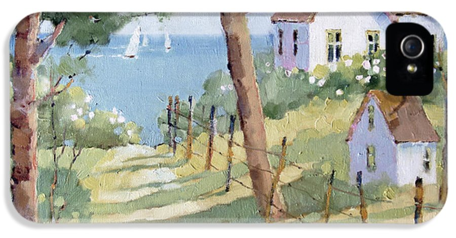 Nantucket IPhone 5 Case featuring the painting Perfectly Peaceful Nantucket by Joyce Hicks