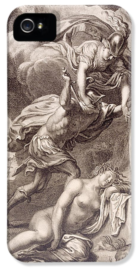 Perseus IPhone 5 Case featuring the painting Perseus Cuts Off Medusa's Head by Bernard Picart