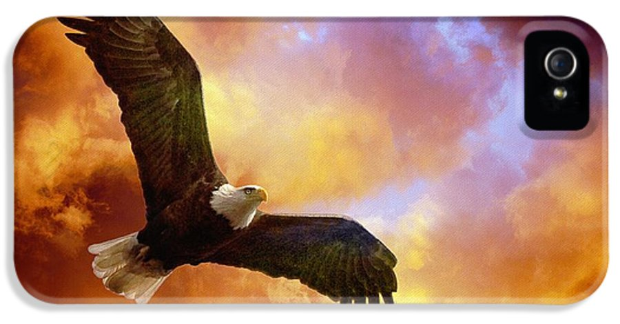 Eagle IPhone 5 Case featuring the photograph Perseverance by Lois Bryan