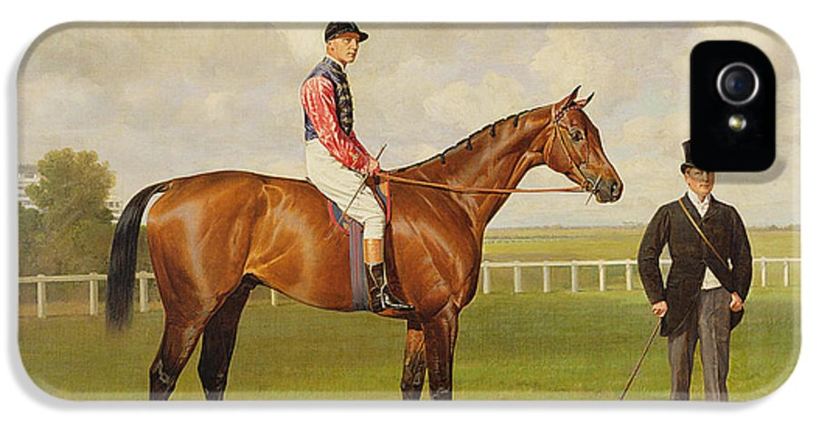 Horse IPhone 5 Case featuring the painting Persimmon Winner Of The 1896 Derby by Emil Adam