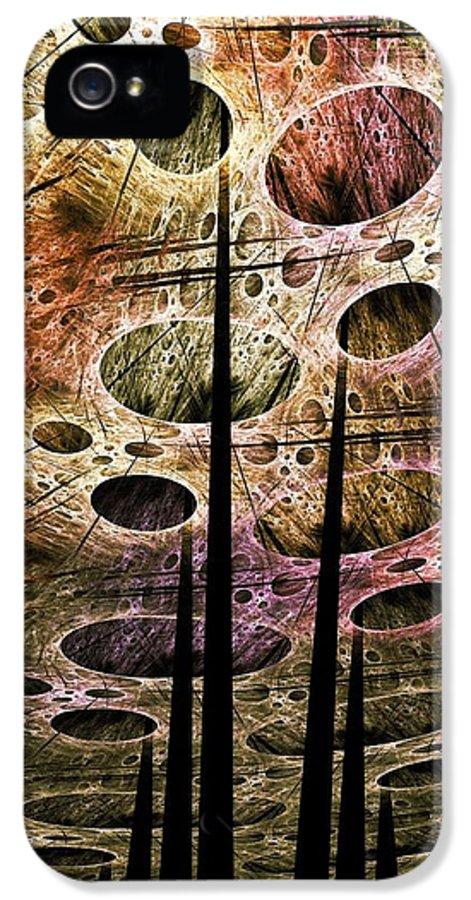 Malakhova IPhone 5 Case featuring the digital art Perspective Lost by Anastasiya Malakhova