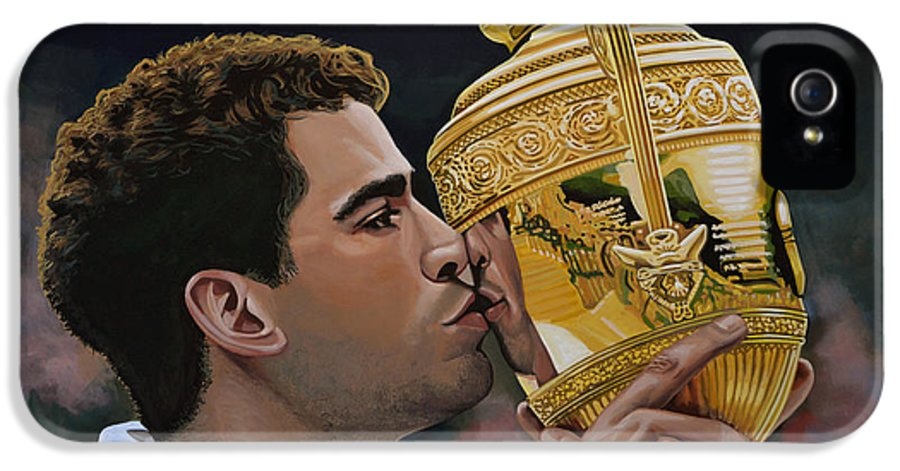 Pete Sampras IPhone 5 Case featuring the painting Pete Sampras by Paul Meijering