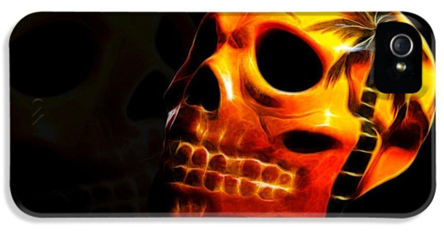 Skull IPhone 5 Case featuring the photograph Phantom Skull by Shane Bechler