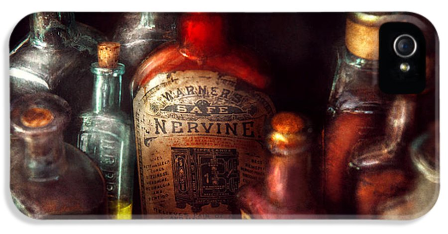 Hdr IPhone 5 Case featuring the photograph Pharmacy - A Safe Rheumatic Cure by Mike Savad