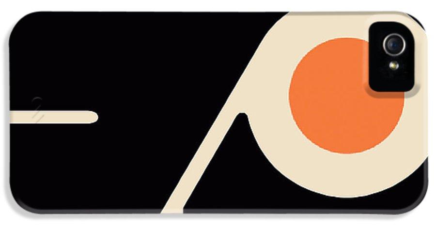 Philadelphia IPhone 5 Case featuring the painting Philadelphia Flyers by Tony Rubino
