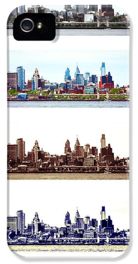 Philadelphia IPhone 5 Case featuring the photograph Philadelphia Four Seasons by Olivier Le Queinec