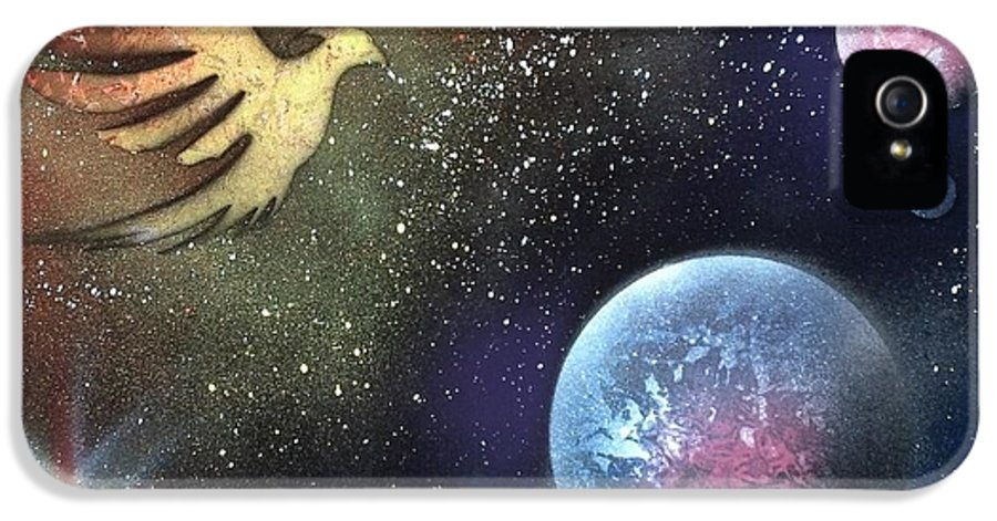 Phoenix IPhone 5 Case featuring the painting Phoenix Vs The Cold Worlds by Thomas Roteman