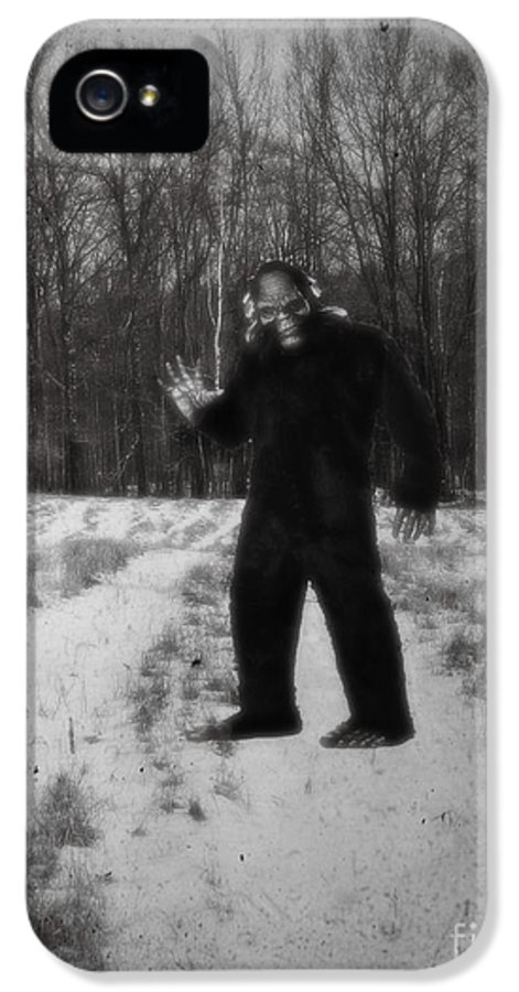 Yeti IPhone 5 Case featuring the photograph Photographic Evidence Of Big Foot by Edward Fielding