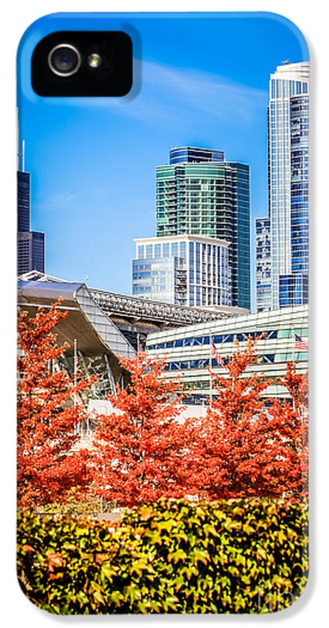 America IPhone 5 Case featuring the photograph Picture Of Chicago In Autumn by Paul Velgos