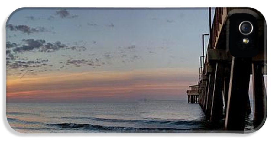 Alabama IPhone 5 Case featuring the photograph Pier Panorama At Sunrise by Michael Thomas