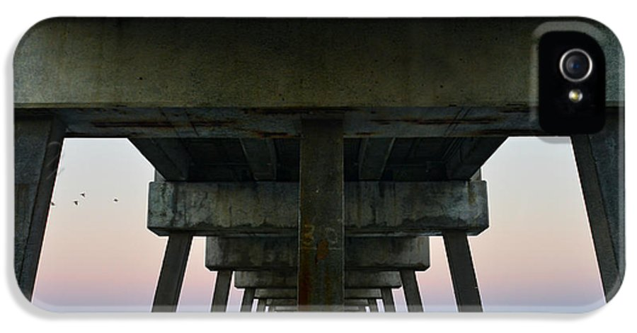 Under Pier IPhone 5 Case featuring the photograph Pierhenge by Laura Fasulo