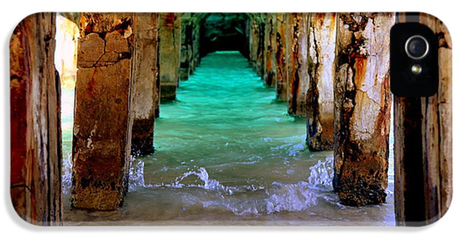 Waterscapes IPhone 5 Case featuring the photograph Pillars Of Time by Karen Wiles