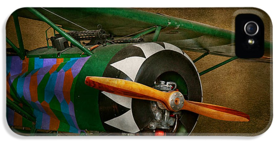 Airplane IPhone 5 Case featuring the photograph Pilot - Plane - German Ww1 Fighter - Fokker D Viii by Mike Savad