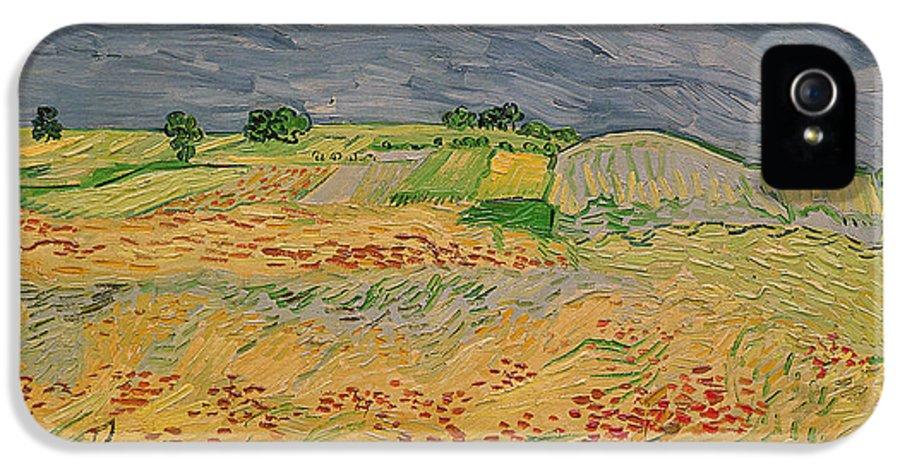 La Plaine A Auvers IPhone 5 Case featuring the painting Plain At Auvers by Vincent Van Gogh