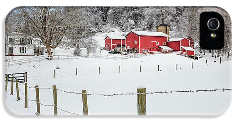 Old Red Barn IPhone 5 Case featuring the photograph Platt Farm by Bill Wakeley