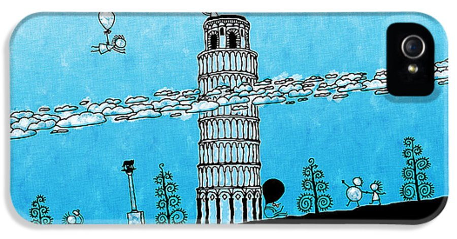 Italy IPhone 5 Case featuring the photograph Playful Tower Of Pisa by Gianfranco Weiss