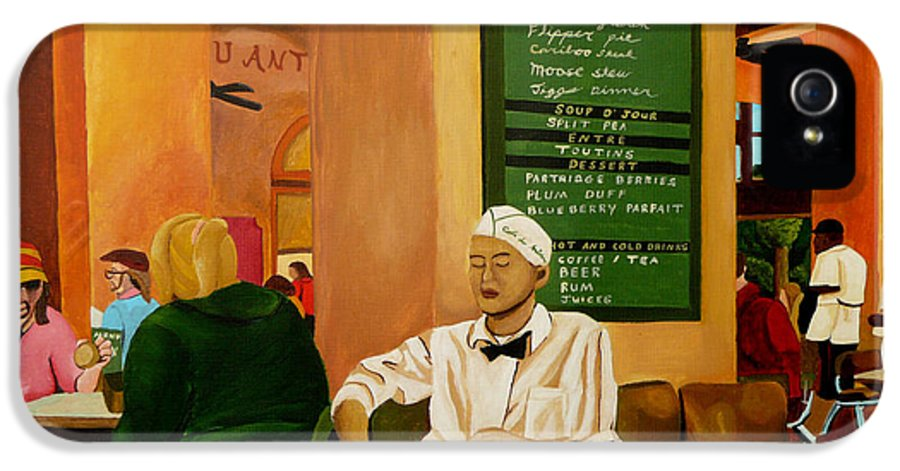 Cafe IPhone 5 Case featuring the painting Please Be Seated by Anthony Dunphy