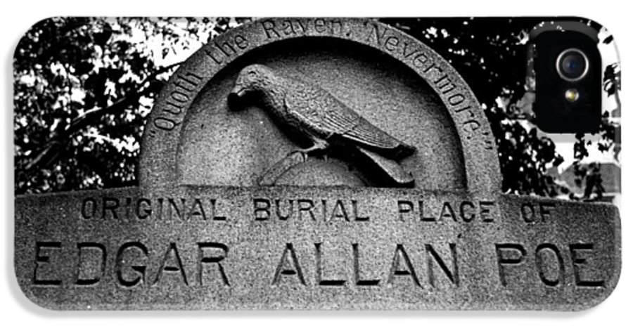 Edgar Allan Poe IPhone 5 Case featuring the photograph Poe's Original Burial Place by Jennifer Ancker