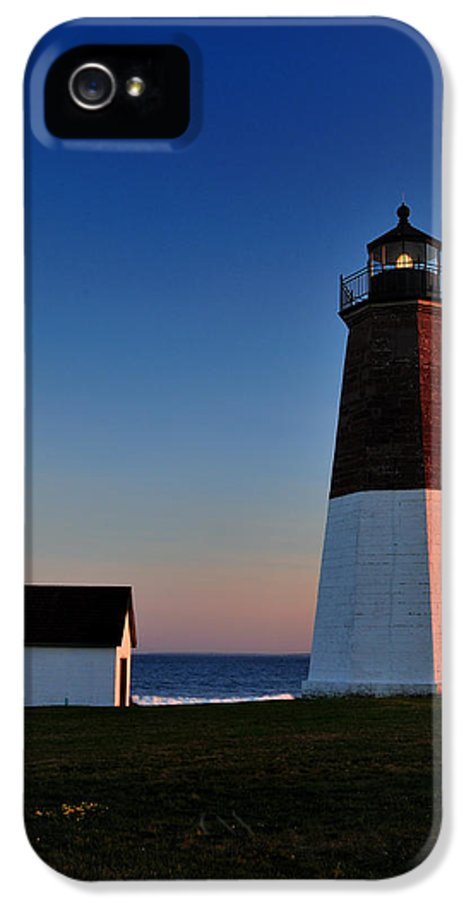 Point Judith IPhone 5 Case featuring the photograph Point Judith- Sidelit At Sunset by Thomas Schoeller