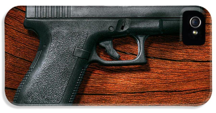 Savad IPhone 5 Case featuring the photograph Police - Gun - The Modern Gun by Mike Savad