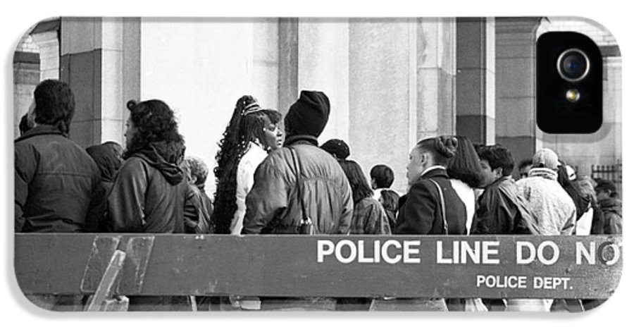 Police Line 1990s IPhone 5 Case featuring the photograph Police Line 1990s by John Rizzuto