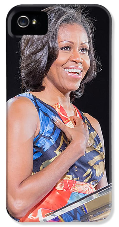 Michelle Obama IPhone 5 Case featuring the photograph Political Ralley by Ava Reaves