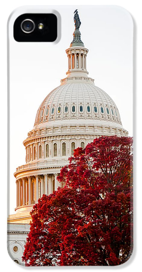 Arlington Cemetery IPhone 5 Case featuring the photograph Politics Seeing Red by Greg Fortier