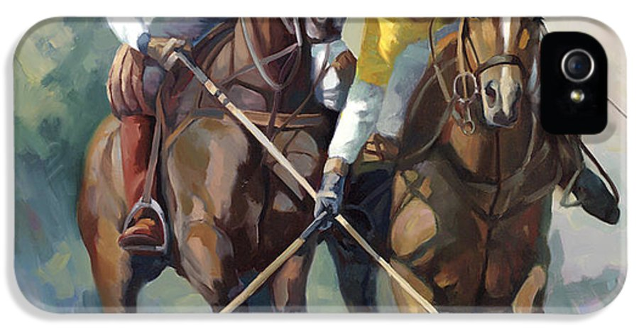 Polo IPhone 5 Case featuring the painting Polo by Laurie Hein