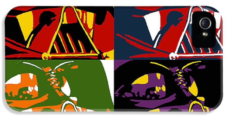 Star Wars IPhone 5 Case featuring the painting Pop Art Vader by Dale Loos Jr