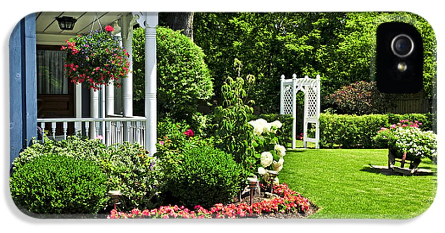 Landscaped IPhone 5 / 5s Case featuring the photograph Porch And Garden by Elena Elisseeva