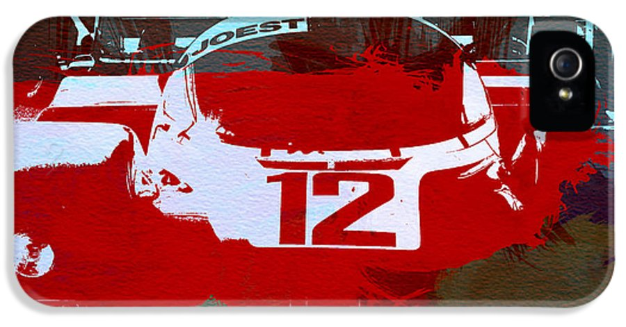 Porsche 965 IPhone 5 Case featuring the painting Porsche Le Mans by Naxart Studio