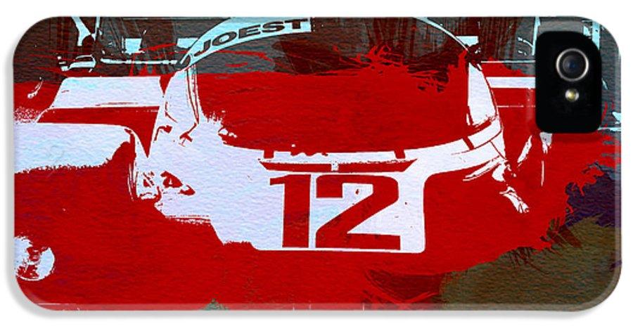 Porsche 965 IPhone 5 / 5s Case featuring the painting Porsche Le Mans by Naxart Studio