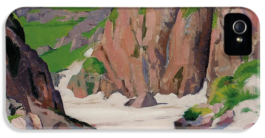 Iona IPhone 5 Case featuring the painting Port Bhan Iona by Francis Campbell Boileau Cadell