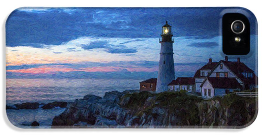 Lighthouse IPhone 5 Case featuring the photograph Portland Head Lighthouse by Diane Diederich