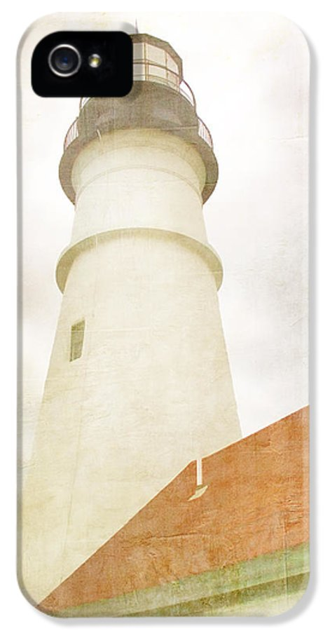 Portland Head Light IPhone 5 Case featuring the photograph Portland Head Lighthouse Maine by Carol Leigh