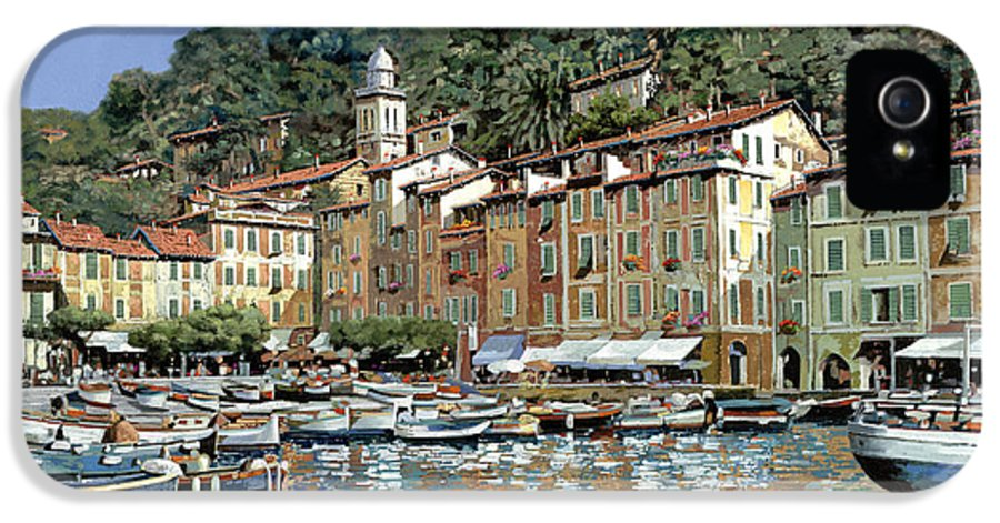 Portofino IPhone 5 Case featuring the painting Portofino by Guido Borelli