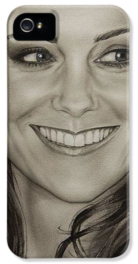 Portrait IPhone 5 Case featuring the painting Portrait Kate Middleton Detail by Natalya Aliyeva